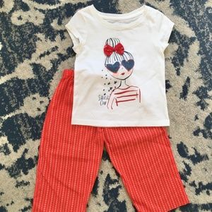 TODDLER Adorable Shirt & Pants Outfit SIZE 3T
